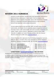 KEVÄÄN 2011 KURSSEJA - Suomen Interfoto