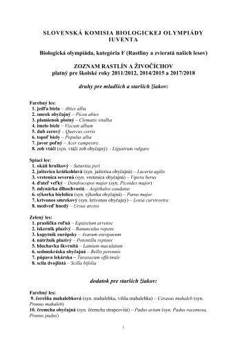 školské roky 2011/2012, 2014/2015 a 2017/2018 - Iuventa