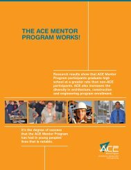 ThE ACE MEnToR PRogRAM WoRKS!