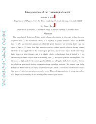 Interpretation of the Cosmological Metric