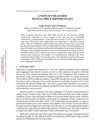 2-A Note on Measured Spatial Price Differentials.pdf - Mimts.org