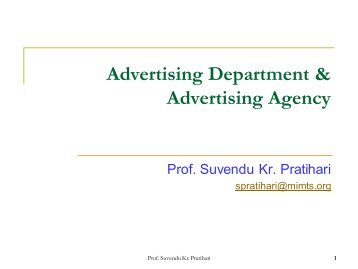 Advertising Department & Advertising Agency - Mimts.org