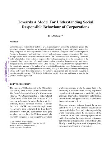 Towards A Model For Understanding Social ... - Mimts.org