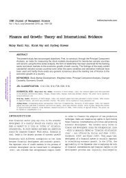 Finance and Growth: Theory and International Evidence - Mimts.org
