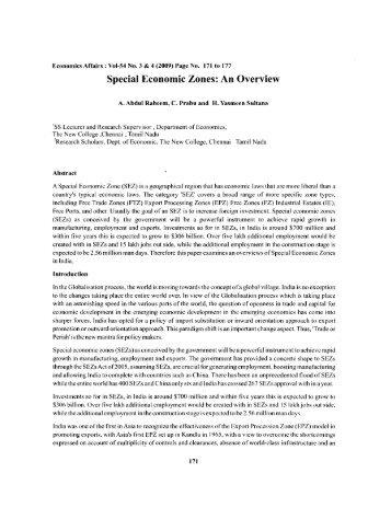 Special Economic Zones - Mimts.org