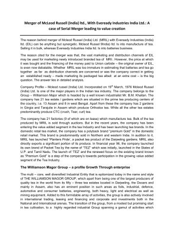 case of williomsen and everday merger.pdf - Mimts.org