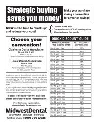 Strategic buying saves you money! - Midwest Dental