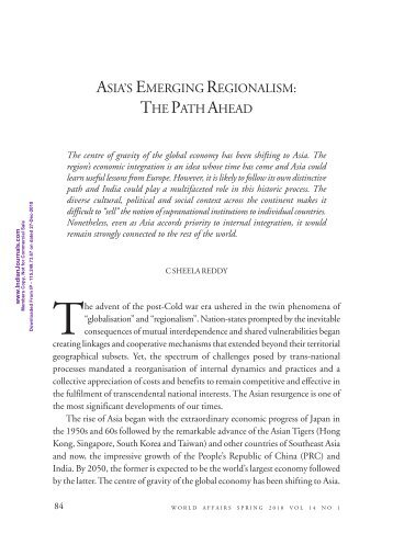 3-Asia's emerging regionalism - The path ahead.pdf - Mimts.org