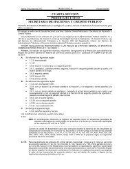 cuarta seccion poder ejecutivo secretaria de hacienda y credito ...