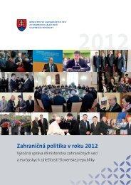 Zahraničná politika v roku 2012 - Ministerstvo zahraničných vecí SR