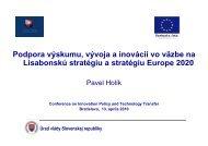 Úrad vlády Slovenskej republiky Podpora výskumu, vývoja a ...