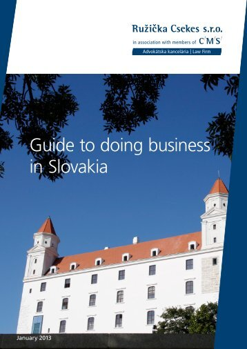Guide to doing business in Slovakia