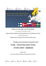 Nordic – Slovak Innovation Forum INNOVATION BRIDGES