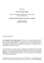 Address by H.E. Mr. Miroslav Lajčák, Deputy Prime Minister and ...