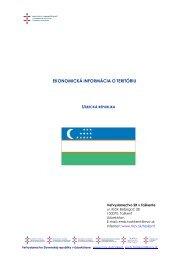 Uzbekistan - Základné ekonomické informácie o teritóriu