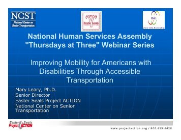 Improving Mobility for Americans with Disabilities Through ...