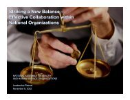 Striking a New Balance –Effective Collaboration within Federated ...