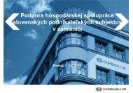 Podpora hospodárskej spolupráce slovenských podnikateľských ...