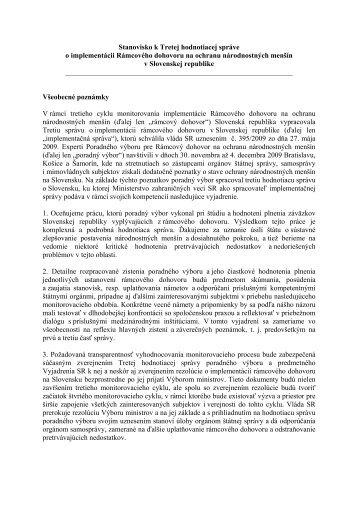 Komentr - Ministerstvo zahraničných vecí SR