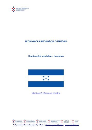 Honduras - Ministerstvo zahraničných vecí SR