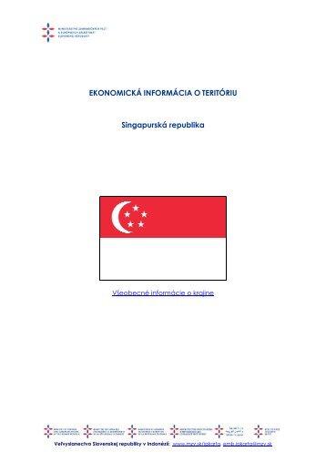EIT Singapúr - Ministerstvo zahraničných vecí SR
