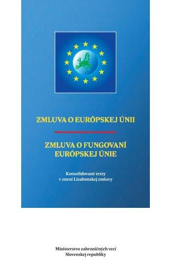 Zmluva o EÚ - Ministerstvo zahraničných vecí SR