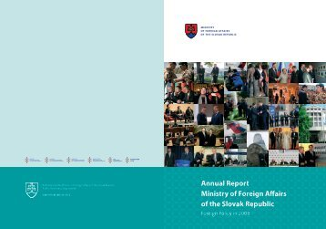 Annual Report Ministry of Foreign Affairs of the Slovak Republic 2008