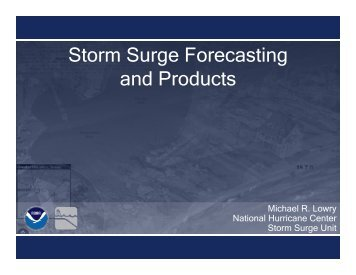 Storm Surge Forecasting and Products - National Hurricane Center ...