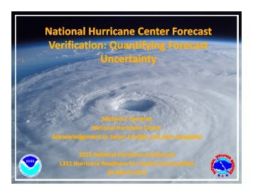 National Hurricane Center Forecast Verification: Quantifying ...