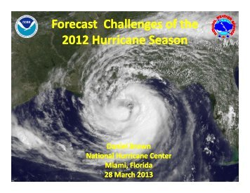NHC 2012 Forecast Challenges - National Hurricane Center