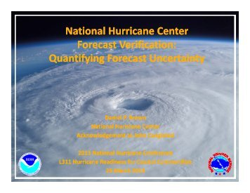 Quantifying Forecast Uncertainty National Hurricane Center ...