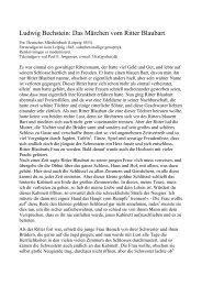 Ludwig Bechstein: Das Märchen vom Ritter Blaubart.