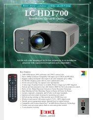 LC-HDT700 - Audio General Inc.