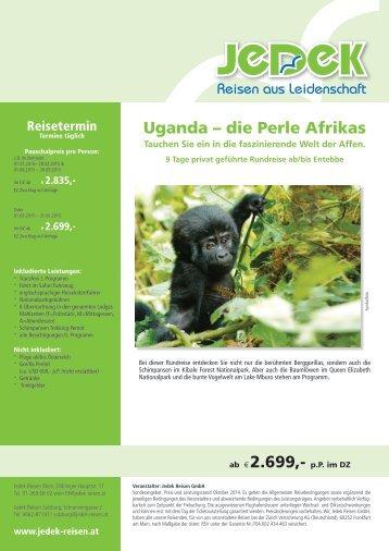 Uganda – die Perle Afrikas ab Euro 2.699,-