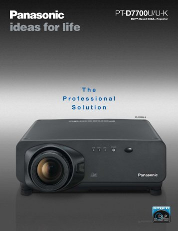 PT-D7700U-K - Projector Reviews