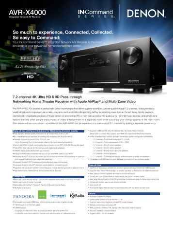 AVR-X4000 - Audio General Inc.