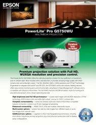 PowerLite® Pro G5750WU - Epson