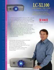 LC-XL100 LC-XL100L - Audio General Inc.