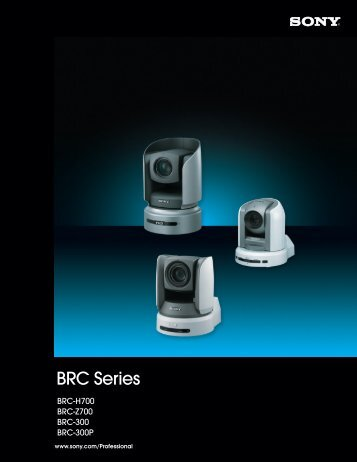 BRC Series Brochure - Sony