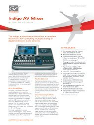 Indigo AV Mixer - Audio General Inc.