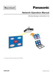 Macintosh Network Operation Manual - Panasonic FTP