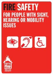 Fire safety for people with sight, hearing or mobility issues - Gov.uk