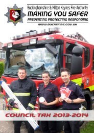 Council tax information - Buckinghamshire Fire and Rescue Services