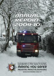 2009-10 - Buckinghamshire Fire and Rescue Services