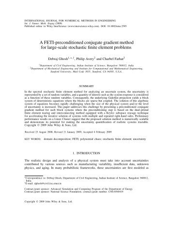 A FETI-preconditioned conjugate gradient method for large ... - cerfacs