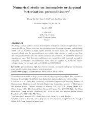 Numerical study on incomplete orthogonal factorization ... - cerfacs
