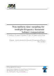 Non-uniform time sampling for multiple-frequency harmonic ... - cerfacs