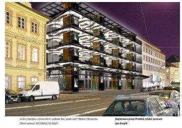 Jan Kropík - portfolio - ČVUT v Praze, Fakulta architektury