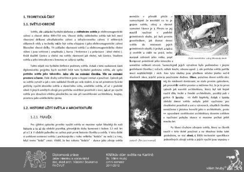 Portfolio - Teoretická část - ČVUT v Praze, Fakulta architektury