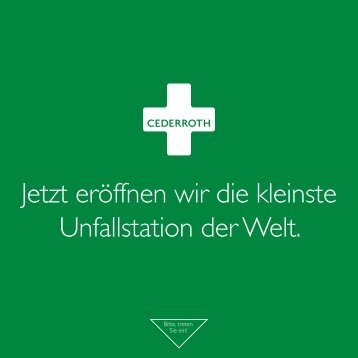 Cederroth Katalog - Heinz Stampfli AG